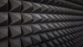 Foam soundproofing coating close-up royalty free stock photography