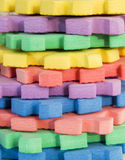 Foam toys. Close up of foam toys Stock Image