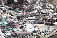 Foam unused Were left piled on the ground. For recycling Stock Images