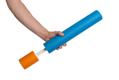 Foam water cylinder tube toy Stock Image