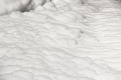 Foam of Water pollution in canal Royalty Free Stock Images