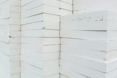 Foamed concrete blocks Stock Photography