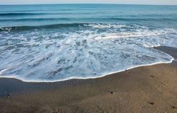 Foaming autumn wave of the Black Sea, Bulgaria Stock Image