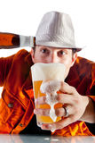 Foaming beer Royalty Free Stock Photos