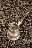Foaming coffee Royalty Free Stock Photos