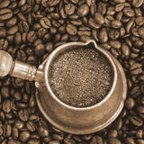 Foaming coffee Stock Images