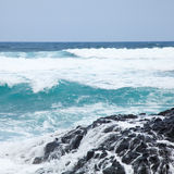 Foaming ocean Stock Images