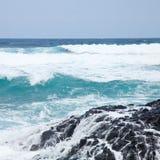 Foaming ocean Stock Images