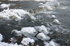 Foaming rapids of the river Stock Photo