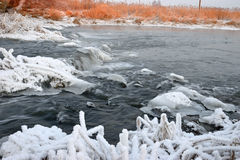 Foaming rapids of the river Stock Image