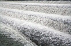 Foaming water. In the Lech dam at 86899 Landsberg am Lech / Bavaria / Germany Stock Photography
