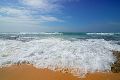 Foamy κύμα της θάλασσας στοκ φωτογραφίες