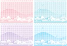 Foamy backgrounds Stock Photo