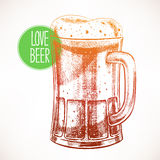 Foamy beer Royalty Free Stock Photo