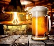 Foamy beer Stock Photos