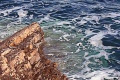 Foamy blue sea water Stock Images