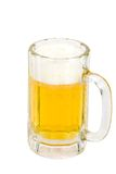 Foamy Ice cold beer. Fresh foamy Ice cold beer in a mug isolated on a white background stock photo