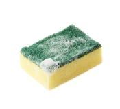 Foamy kitchen sponge isolated Stock Images