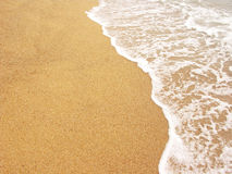 Foamy sea shore Royalty Free Stock Photo
