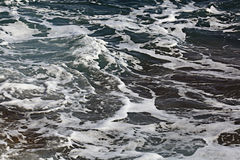 foamy sea waves Royalty Free Stock Images