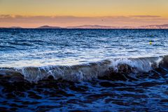 Foamy Shore Of Marmara Sea In Turkey Royalty Free Stock Images