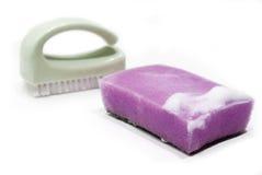 Foamy sponge Stock Photo