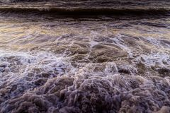 Foamy Surface Of Marmara Sea In Turkey Royalty Free Stock Photo