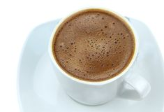 Foamy Turkish coffee Stock Images