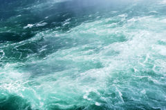 Foamy water wave. The mist of green foamy water wave Royalty Free Stock Images