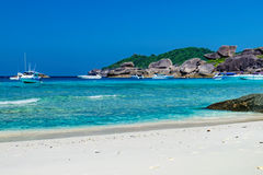 Foamy waves on the Koh Similan, Thailand Royalty Free Stock Image