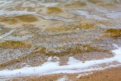 Foamy waves of the river royalty free stock images