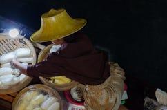 Foating-Markt in Thailand lizenzfreies stockbild