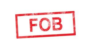FOB in rode rechthoekige zegel Royalty-vrije Stock Foto