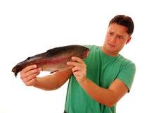 Fobia de los pescados fotografía de archivo