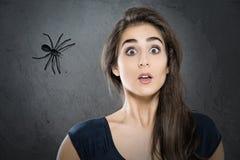 Fobia del ragno Fotografia Stock