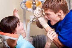 Fobia dental Fotos de archivo libres de regalías
