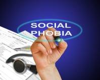 Fobia sociale Immagine Stock Libera da Diritti