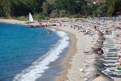 Foca Hanedan beach. Foca ( Foça ) is a touristic town near İzmir in Turkey. The beach is famous and beautiful called Hanedan in Foca ( Foça Stock Photos