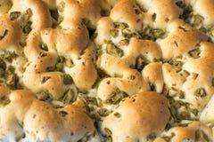 Focacce avec des olives - pain Photo libre de droits