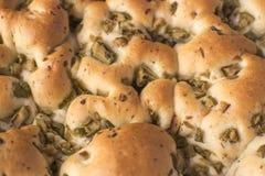 Focacce avec des olives - pain Photos stock