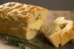 Focaccia面包用乳酪 库存图片