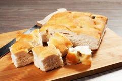 Focaccia面包 免版税库存照片