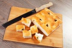 Focaccia面包 免版税库存图片