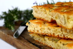 focaccia ψωμιού Στοκ Εικόνες