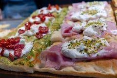 Focaccia - итальянец Streetfood господствует высший стоковые изображения