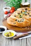 Итальянский хлеб focaccia Стоковое Изображение RF