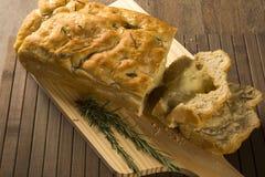Focaccia bread with cheese Stock Photos