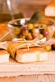 Focaccia bread on cutting board. Royalty Free Stock Photos