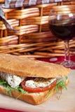 Focaccia bread sandwich Stock Image