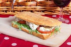 Focaccia bread sandwich Stock Images